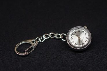 Real Watch Key Chain Miniblings Key Ring Clock Wristwatch Time Snap-Button Snap Button – Bild 3