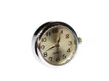 Real Watch Pin Miniblings Brooch Clock Wristwatch Time Snap-Button Snap Button – Bild 1