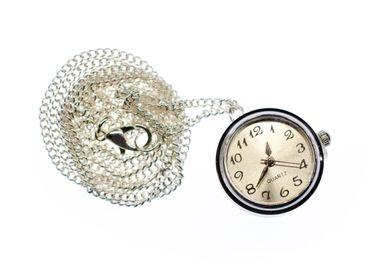Uhr Funktioniert Kette Miniblings Halskette Snap Button Uhrzeit 45cm Armbanduhr – Bild 1