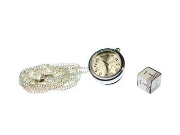 Uhr Funktioniert Kette Miniblings Halskette Snap Button Uhrzeit 45cm Armbanduhr – Bild 2