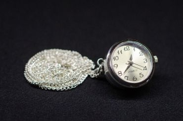 Real Watch Necklace Miniblings 45cm Clock Wristwatch Time Snap-Button Snap Button – Bild 3