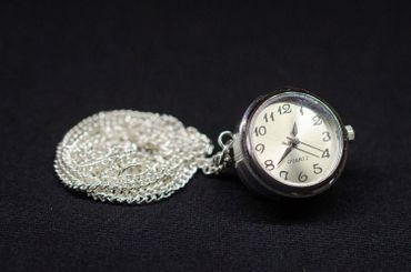Uhr Funktioniert Kette Miniblings Halskette Snap Button Uhrzeit 45cm Armbanduhr – Bild 3