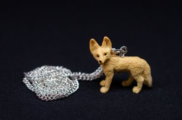 Desert Fox Necklace Miniblings 45cm Forest Animal Nature Animals Fennec – Bild 2