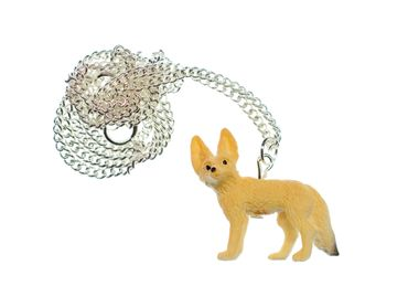 Desert Fox Necklace Miniblings 45cm Forest Animal Nature Animals Fennec – Bild 1