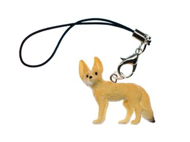 Desert Fox Mobile Phone Charm Pendant Miniblings Foxes Rubber Animals Animal – Bild 1