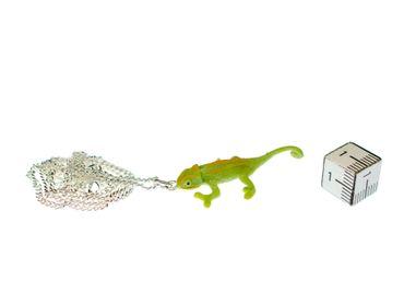 Chamäleon 45cm Kette Halskette Miniblings Anhänger Reptil Echse Leguan grün – Bild 3