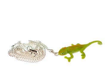 Chameleon Necklace 45cm Miniblings Animal Reptile Iguana Salamander Green – Bild 1