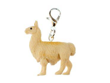 Lama Alpaca Charm Miniblings Pendant Animal South America Zipper Pull Camel Rubber – Bild 1