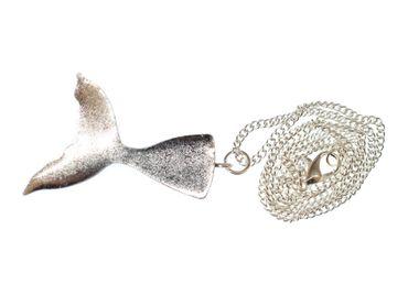 Mermaid Flapper Necklace 45cm Miniblings Mirror Bluegreen Ocean Sea – Bild 3