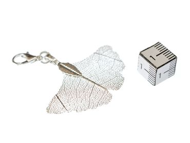 Ginko Leaf Skeleton Charm Miniblings Pendant Zipper Pull Tree China Gingko Ginkgo – Bild 3