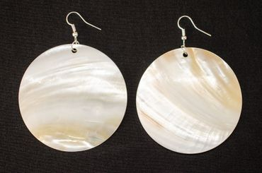 Pearl 6cm Earrings Miniblings Danglers Shell Mother Of Pearl Ocean Seafruit White – Bild 2