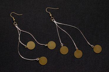 NecklaceBronze Pad Earrings Miniblings Upcycling Boho Hippie Design Jewellery – Bild 4