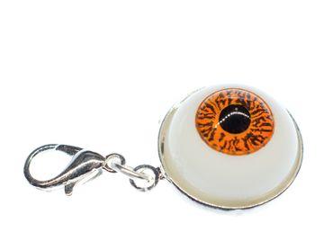 Eye Charm Bracelet Halloween Miniblings Spook Spooky Horror Fancy Dress Brown – Bild 1