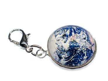 Cabochon Charm Globus Satellitenbild Welt Miniblings Anhänger Armband All Blau – Bild 1