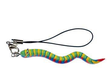 Schlange Wurm Handyanhänger Kriechtier Regenwurm Miniblings Handyschmuck Bunt – Bild 1