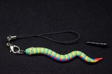 Schlange Wurm Handyanhänger Kriechtier Regenwurm Miniblings Handyschmuck Bunt – Bild 3