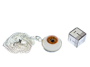 Auge Kette 45cm Gruselig Horror Halloween Miniblings Halskette Anhänger Braun – Bild 2