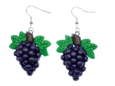Grapes Wine Queen Earrings Fruit Wines Winemaker Hangers Miniblings Red