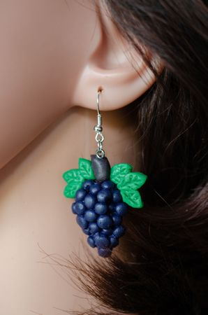 Grapes Wine Queen Earrings Fruit Wines Winemaker Hangers Miniblings Red  – Bild 4