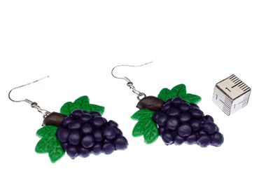 Grapes Wine Queen Earrings Fruit Wines Winemaker Hangers Miniblings Red  – Bild 2