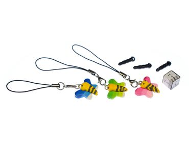 Butterfly Mobile Phone Charm Insects Caterpillar Moth Miniblings Mix Multicolor – Bild 3