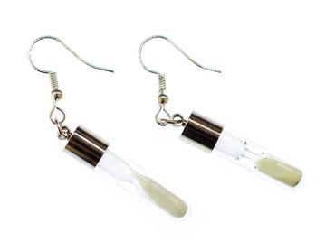 Sanduhr Ohrringe Funktioniert Sand Leuchten Uhrzeit Hänger Ohrring Miniblings  – Bild 1
