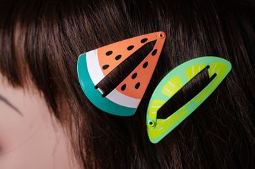 Fruits Mermaid Set of 7 Hair Clip Watermelon Strawberry Jellyfish Miniblings – Bild 5