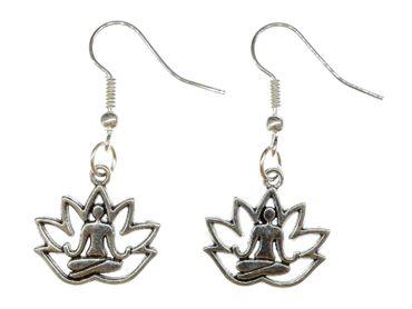 Lotus Position Yoga Earrings Danglers Hangers Miniblings Gekko Saurian Axolotl Argentine – Bild 1