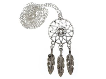 Dreamcatcher Necklace 60cm Pendant Miniblings Spirit Dreaming Dreams Feather – Bild 1