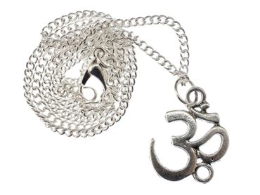 Om Symbol Mantra Mul Kette 45cm Yoga Halskette Anhänger Miniblings Yogi Yogini  – Bild 1