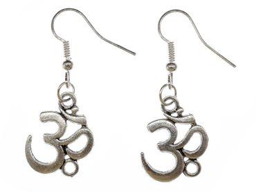 Om Symbol Mantra Mul Ohrringe Hänger Miniblings Shanti Entspannung Yogis Yogini – Bild 1