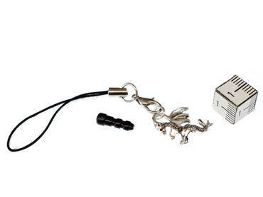 Drache 2cm Handyanhänger Miniblings Handyschmuck Fabelwesen Fantasy Metall – Bild 2