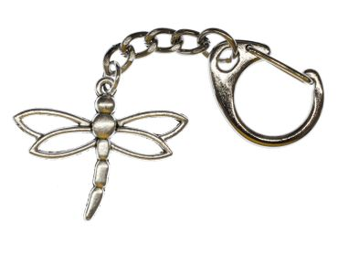 Dragonfly Keychain Miniblings Zipper Insect Insects Dragonflies Ordonata Metal – Bild 1