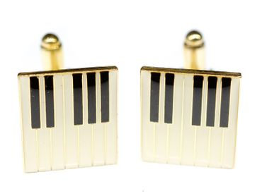 Piano Keys Cuff Links Cufflinks Miniblings + Box Grand Musician Octave Music – Bild 1