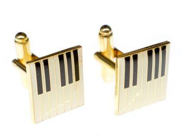 Klaviertastatur Manschettenknöpfe Miniblings + Box Piano Pianist Musiker Klavier – Bild 2