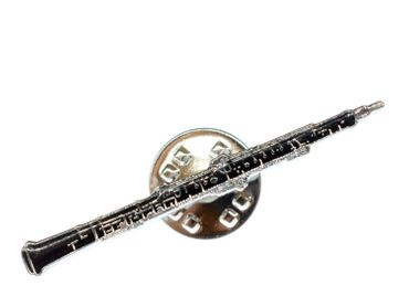 Oboe Brooch Miniblings Pin Button Music Musician Wind Instrument Jazz Flute – Bild 2