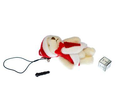 Teddy Weihnachtsmann Handyanhänger Miniblings Handyschmuck Weihnachten Plüsch – Bild 2