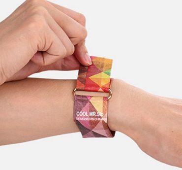 Paperwatch Miniblings Paper watch clock Unisex Koi Carp LED Magnet Petrol – Bild 2