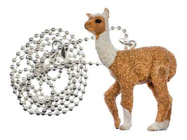 Alpaca Necklace 80cm Miniblings Pendant Lama Pack Animal Camel Alpacas Beige – Bild 2