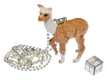 Alpaca Necklace 80cm Miniblings Pendant Lama Pack Animal Camel Alpacas Beige – Bild 1