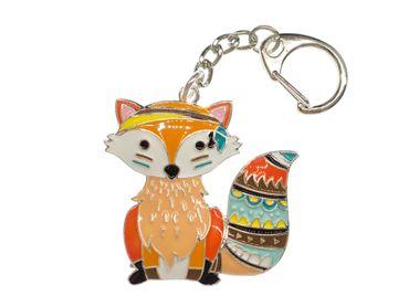 Fuchs Schlüsselanhänger Miniblings Rotfuchs Fuchsanhänger Metall bunt emailliert – Bild 1