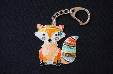 Fuchs Schlüsselanhänger Miniblings Rotfuchs Fuchsanhänger Metall bunt emailliert – Bild 4