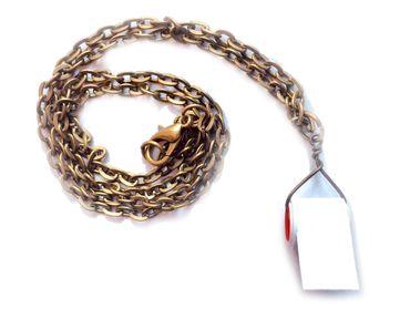Klopapier Halskette Virus Krise Miniblings Kette Toilettenpapier Handarbeit – Bild 1