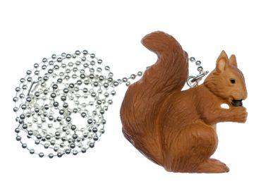 Eichhörnchen Kette 80cm Anhänger Miniblings Klettertier Nager Hörnchen Braun – Bild 1