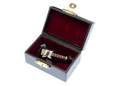 E-Gitarre Krawattennadel Krawattenhalter +Box Miniblings Musik Gitarre Schwarz – Bild 3