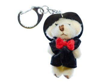 Bräutigam Teddy Schlüsselanhänger Miniblings Anhänger Schlüsselring Hochzeit Bär – Bild 1