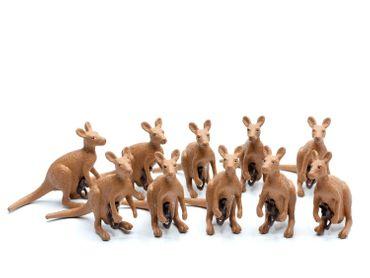 10x Känguru Joey Aufstellfigur Miniblings Gummitier Australien Tier Beuteltier – Bild 2