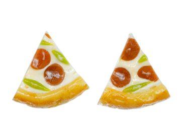 Pizza Stück Ohrstecker Miniblings Stecker Ohrringe Fast Food Amerika USA Essen – Bild 1