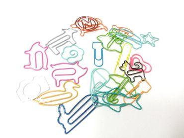 20x Büroklammer Heftklammer Miniblings Motiv Kinder Tier Herz Flugzeug Rad Bunt – Bild 3