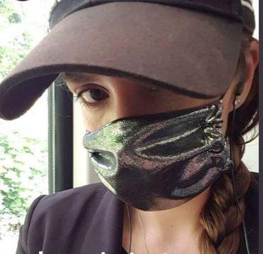 Community-Maske atmungsaktiv! DIY Mund Nasen Maske Clubwear by Lilaberlin Leo Regenbogen – Bild 2
